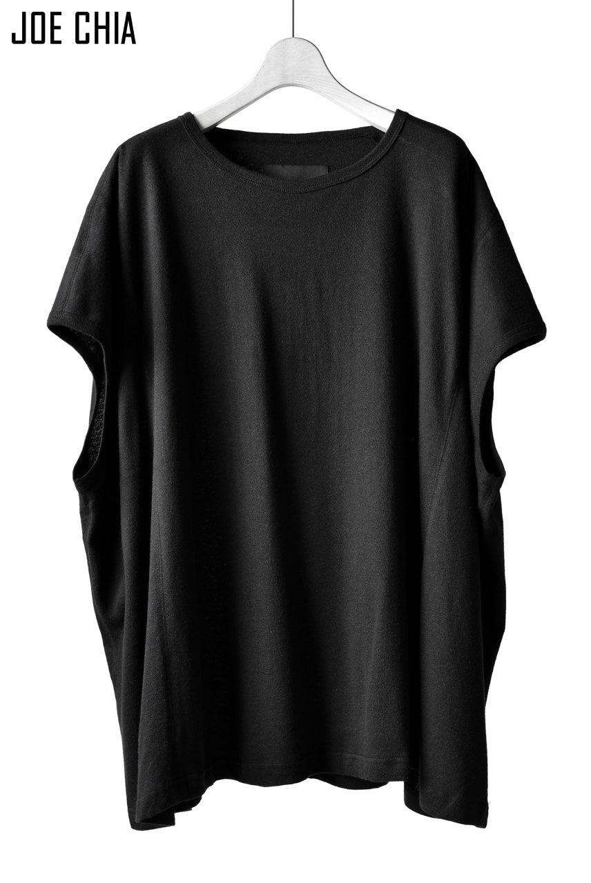 JOE CHIA LOOSEFITTED FRENCH-SLEEVE TOP (BLACK)