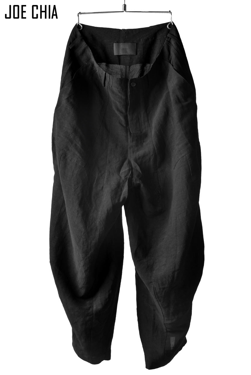 JOE CHIA STRUCTURED BAGGY PANTS (BLACK)