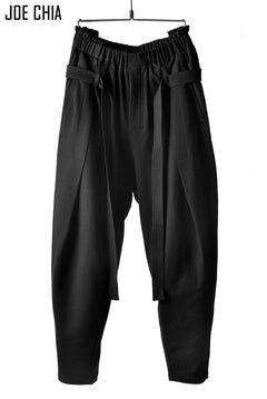 画像をギャラリービューアに読み込む, JOE CHIA DECONSTRUCTED WAIST PANTS / Urake Cotton Jersey (BLACK)