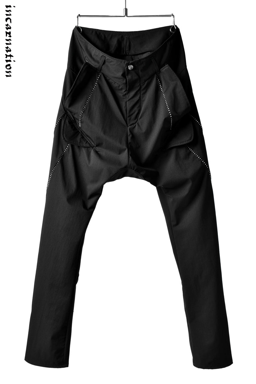 incarnation exclusive DROPCROTCH CARGO PANTS with Overlock Stitched