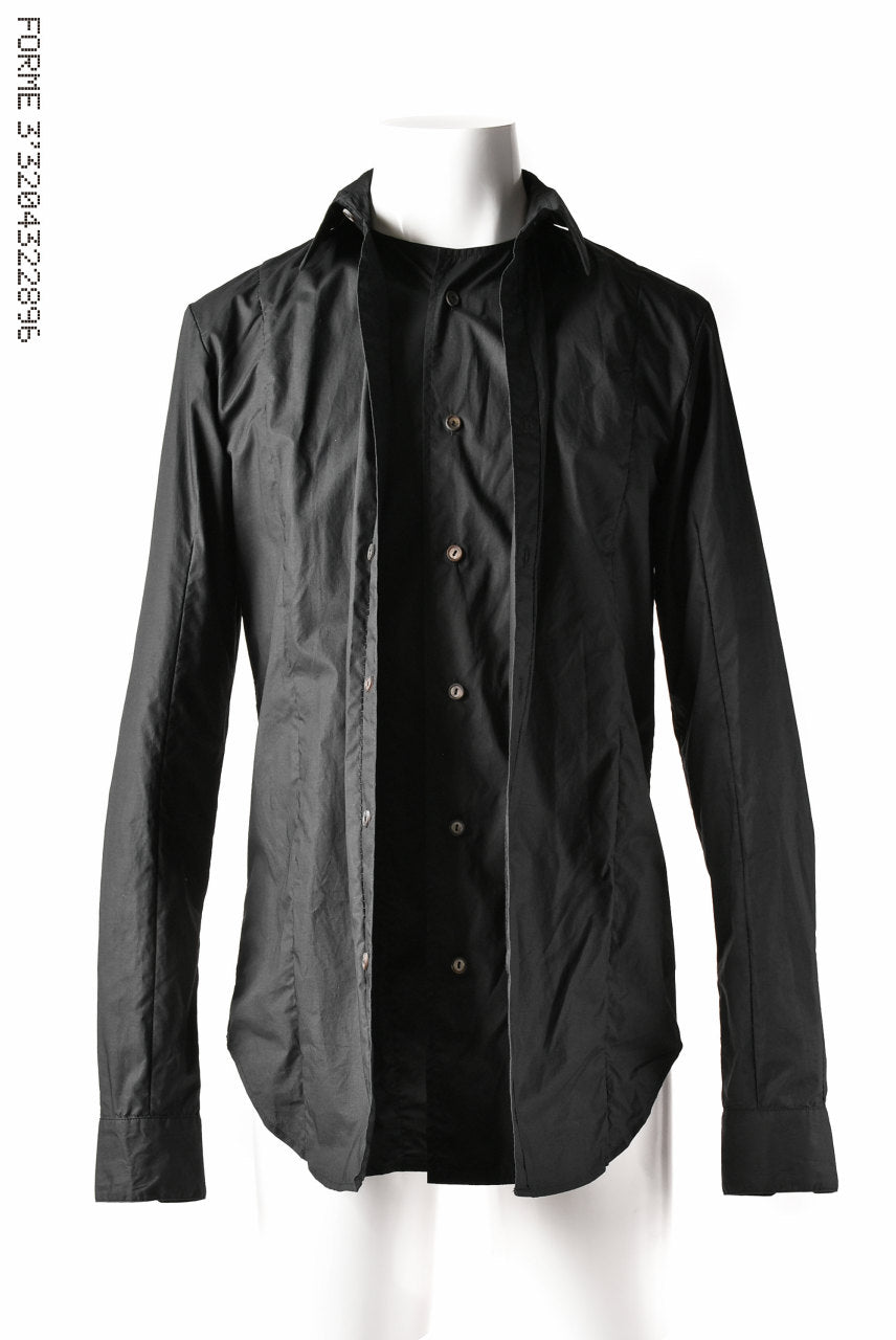 forme d'expression Layered Front Shirt (OFF BLACK)