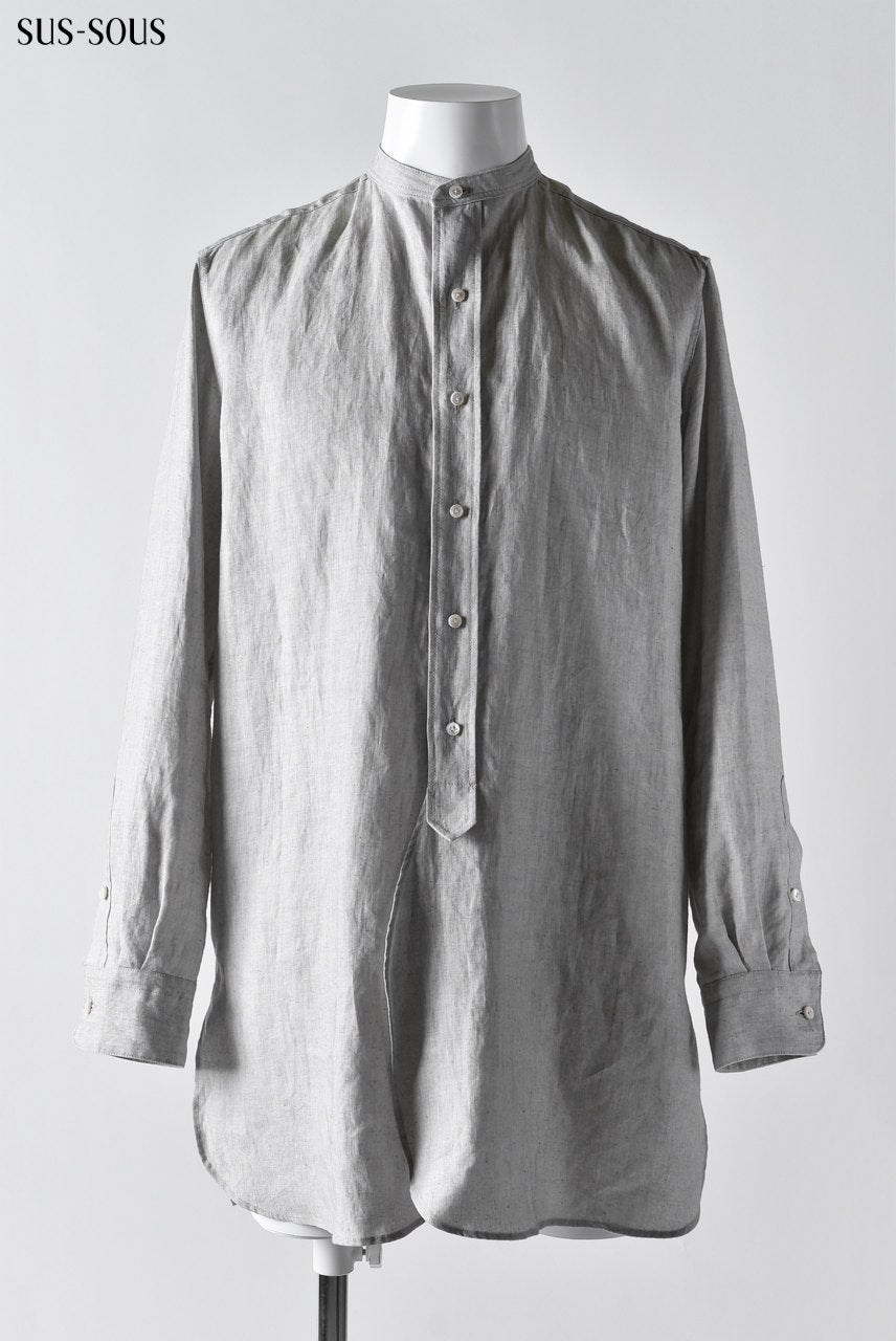 sus-sous officer shirt / C100 chambray (INDIGO)
