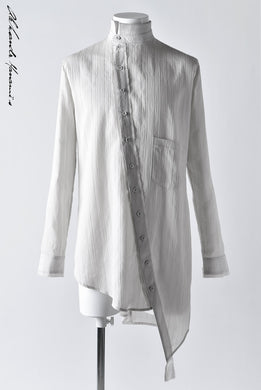 Aleksandr Manamis ASYMMETRY BIAS COLLAR SHIRT