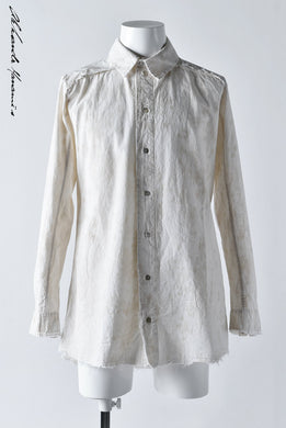 Aleksandr Manamis LAYERED PLACKET SHIRT / Tea Stain Dyed