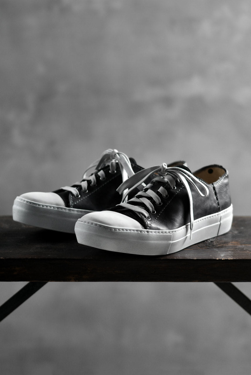 画像をギャラリービューアに読み込む, incarnation HORSE LEATHER LOW CUT LACE UP SNEAKER (BLACK)