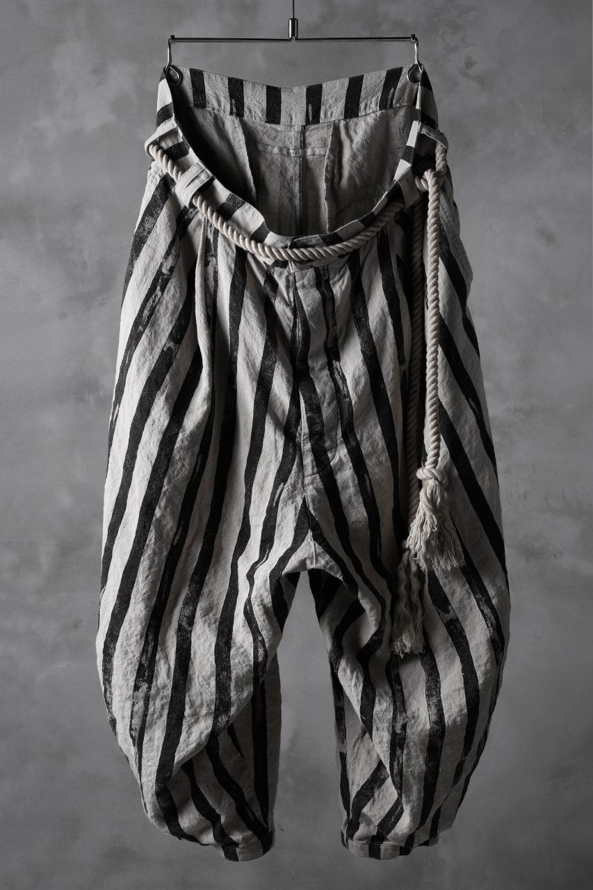Load image into Gallery viewer, _vital roped tuck pants / linen kasure stripe