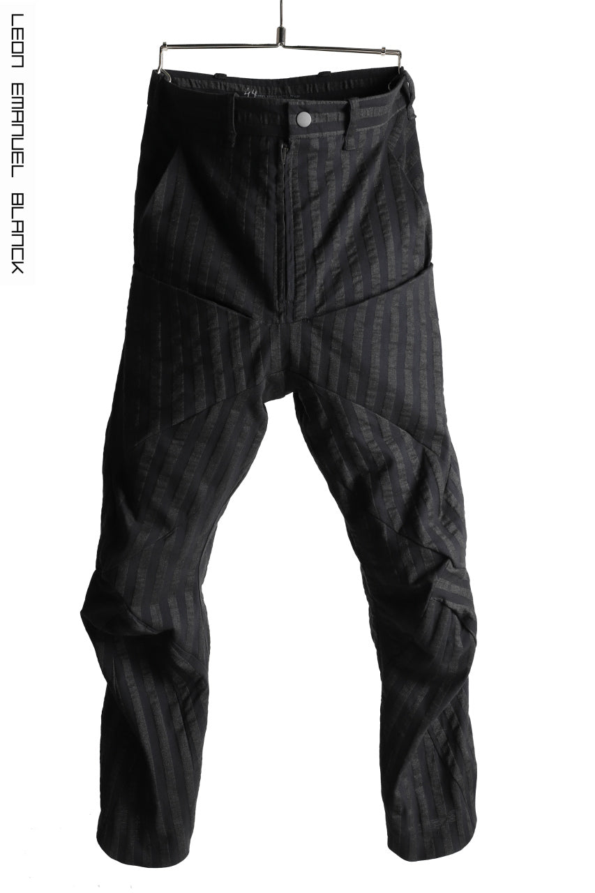 LEON EMANUEL BLANCK FORCED 6POCKET STRETCH ANKLE PANTS (BLACK STRIPE)