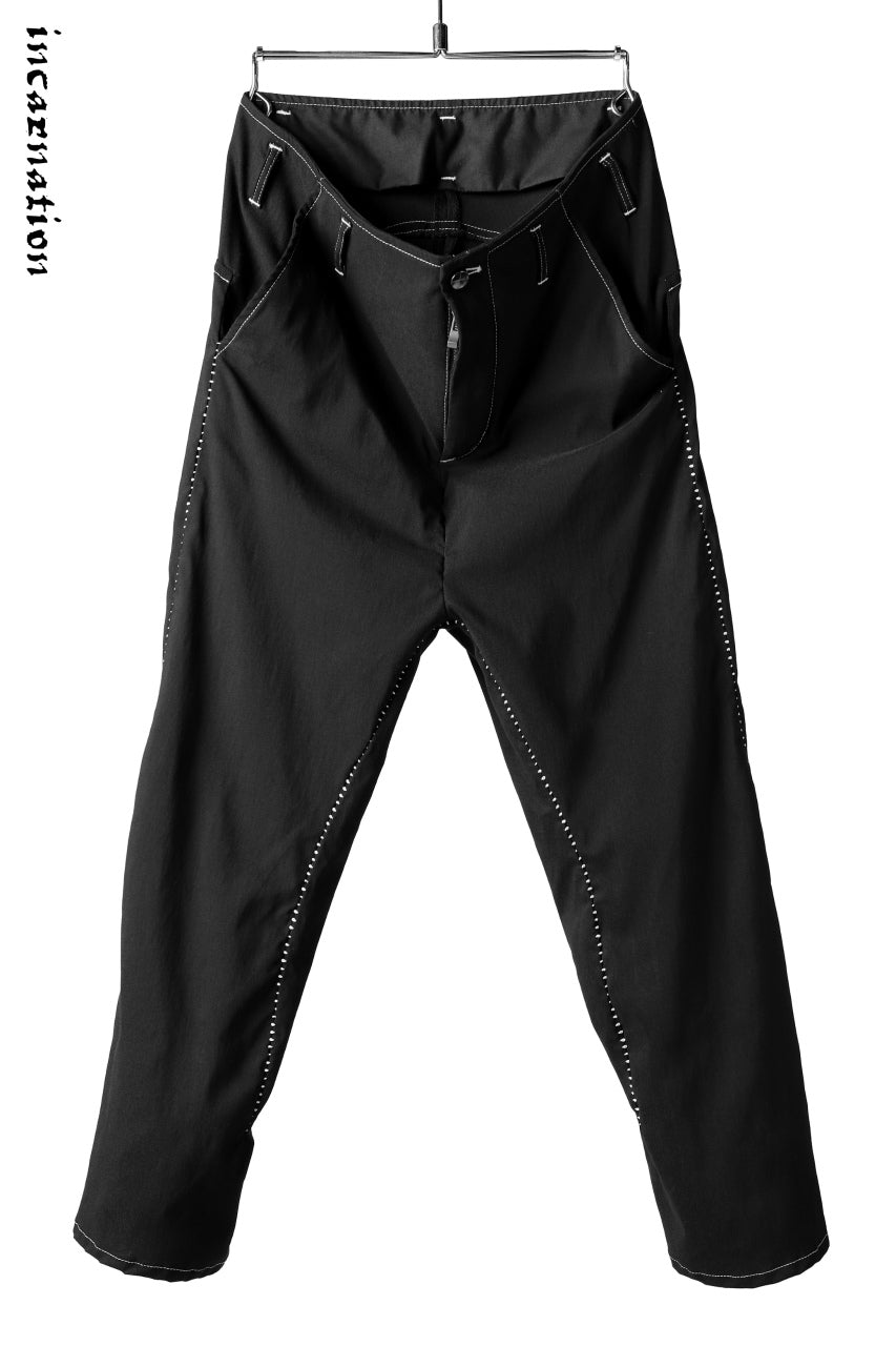incarnation exclusive LONG DARTS CROPPED TROUSERS with Overlock Stitched