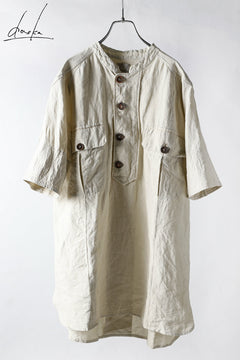 Load image into Gallery viewer, daska exclusive (tirel) cock shirt / sun-dried linen (KINARI)