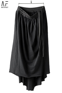 Load image into Gallery viewer, A.F ARTEFACT FEMME DRAPE BACK SKIRT / SLAB JERSEY
