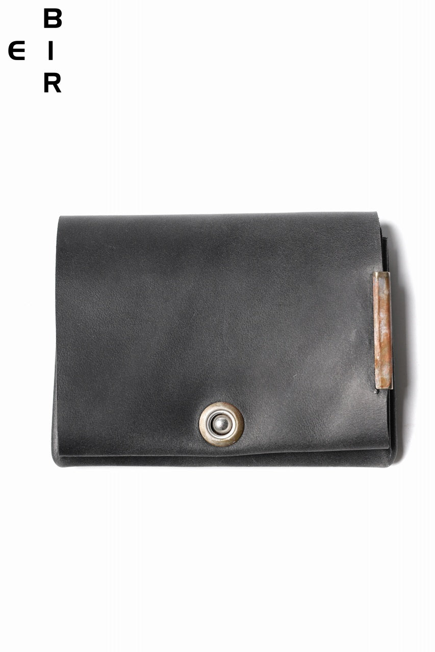 画像をギャラリービューアに読み込む, ierib Smart Folding Wallet / Shell Cordovan #A (BLACK)