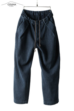 画像をギャラリービューアに読み込む, COLINA DOUBLE TUCK WIDE TAPERED PANTS / SASHIKO (INDIGO)
