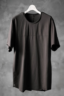 blackcrow short sleeve cutsewn / silky touch cotton (grey)