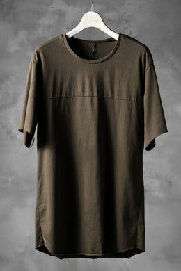 blackcrow short sleeve cutsewn / silky touch cotton (khaki)