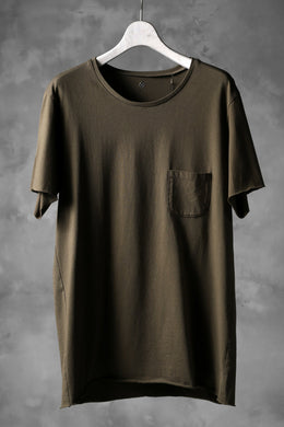 blackcrow short sleeve pocket tee / silky touch cotton (khaki)