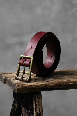 ESDE Brücke Cow Leather Belt (BORDEAUX)