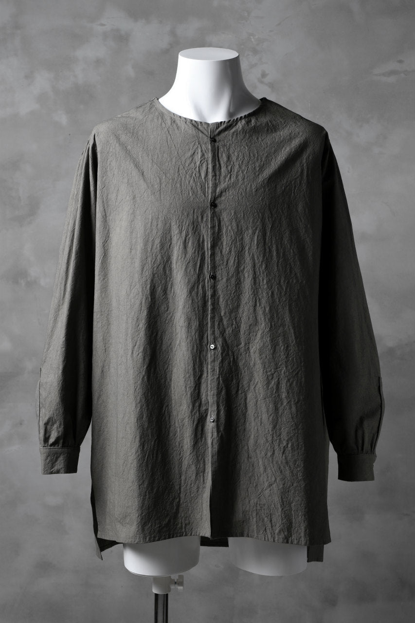 _vital collorless shirt / typewriter cloth (object dyed)