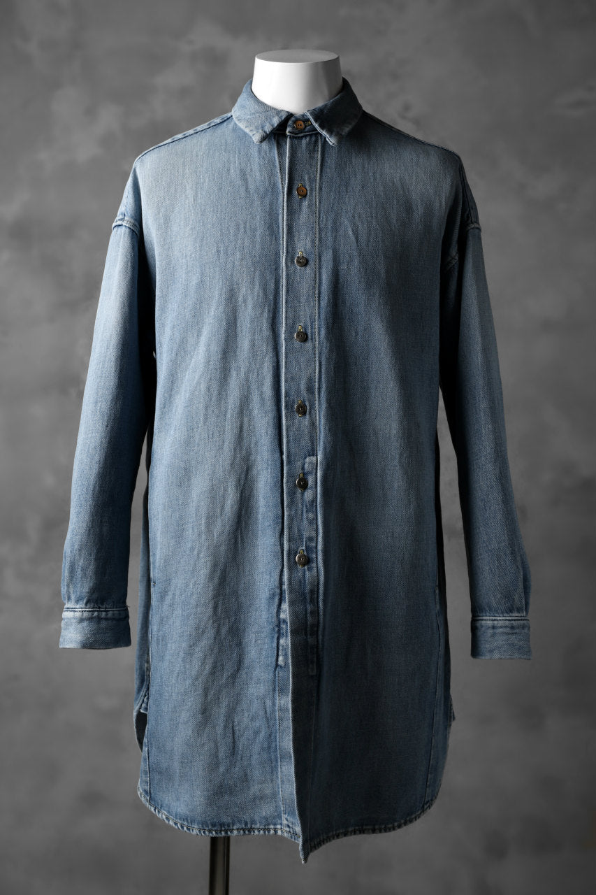 ISAMU KATAYAMA BACKLASH COVER ALL SHIRT / COTTON LINEN DENIM
