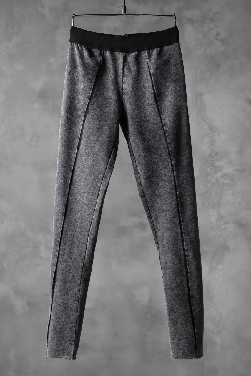 画像をギャラリービューアに読み込む, thomkrom OVERLOCKED LEGGINGS / OILED SPRAY DYE (GREY)