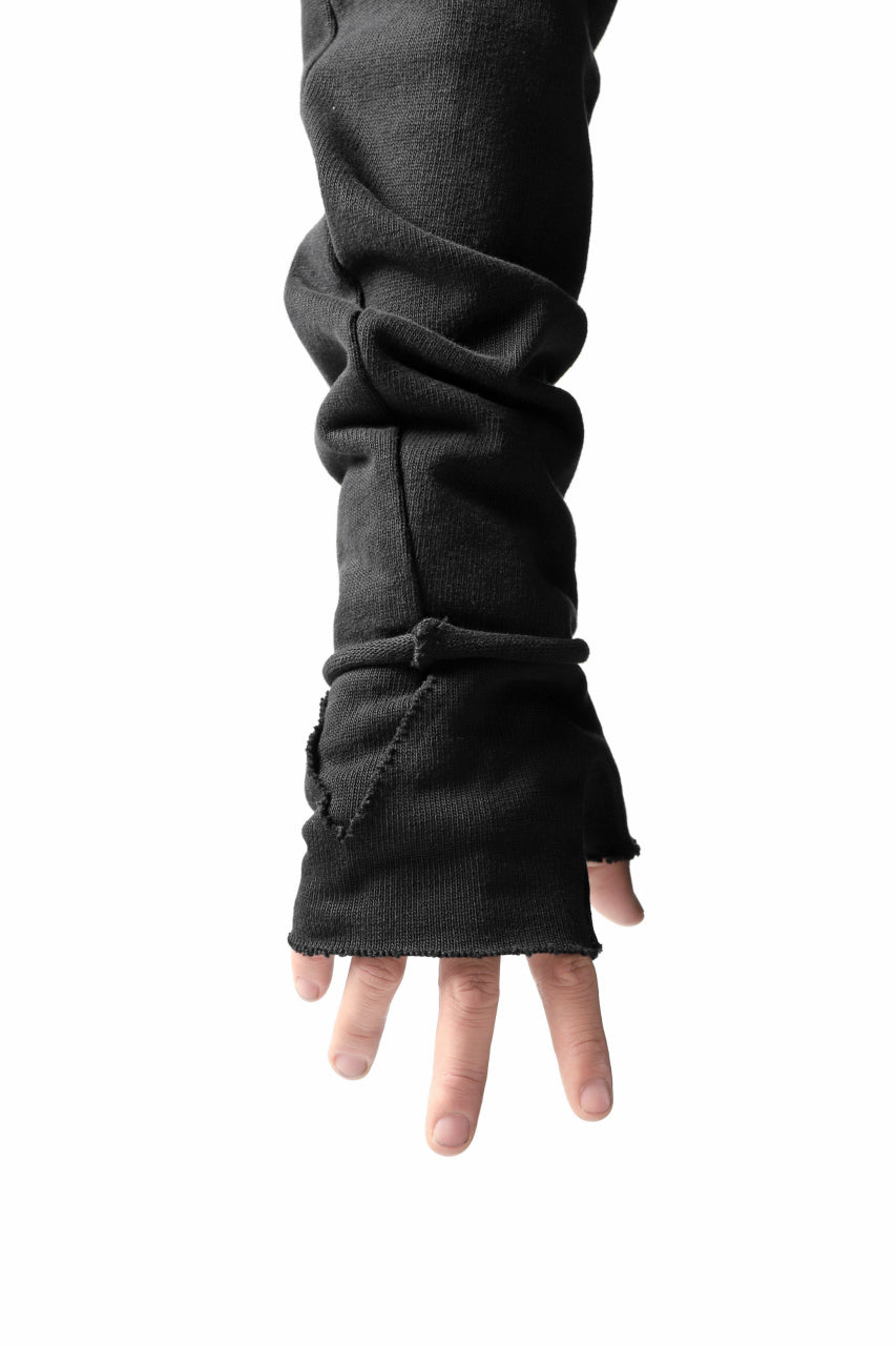 thomkrom FINGER OUT GLOVES / HEAVY JERSEY (BLACK)