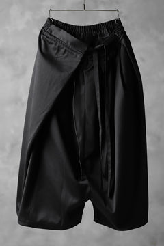 画像をギャラリービューアに読み込む, JOE CHIA WRAP AROUND SKIRT PANTS / WOOLESTER (BLACK)