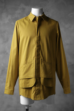 Load image into Gallery viewer, JOE CHIA DOUBLE LAYERED HUNCH SHIRT / SPANDEX COTTON (MUSTARD)