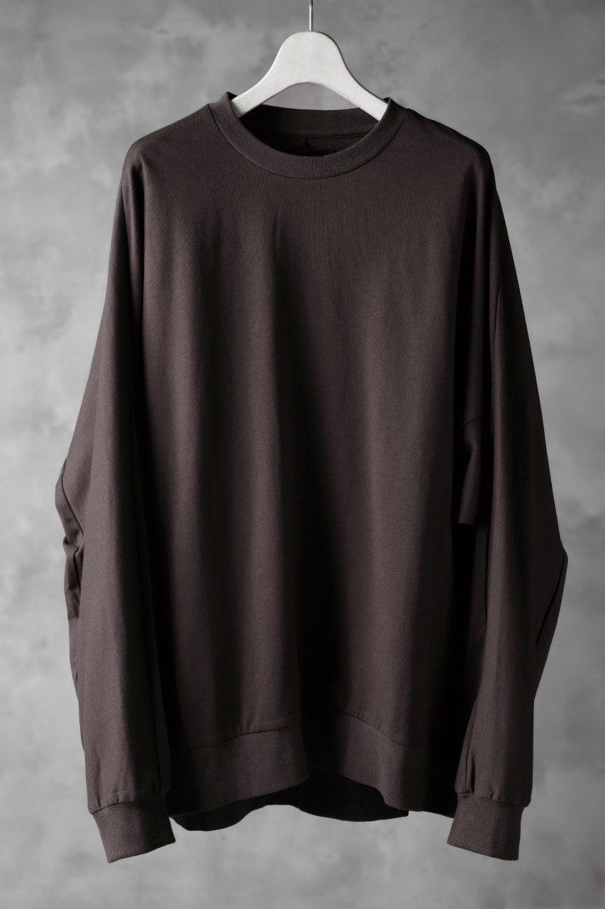 JOE CHIA OVERSIZED HUG JERSEY TOPS (BORDEAUX)