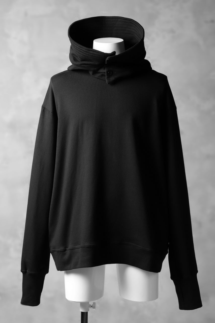 JOE CHIA WIDE BRIM HOODED SWEATSHIRT (BLACK)