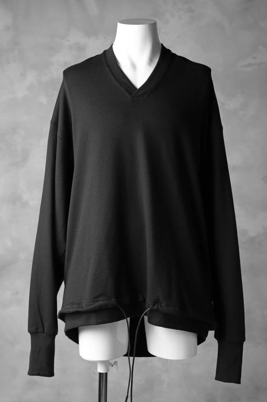 JOE CHIA V-LINE OVERSIZED SWEATSHIRT (BLACK)