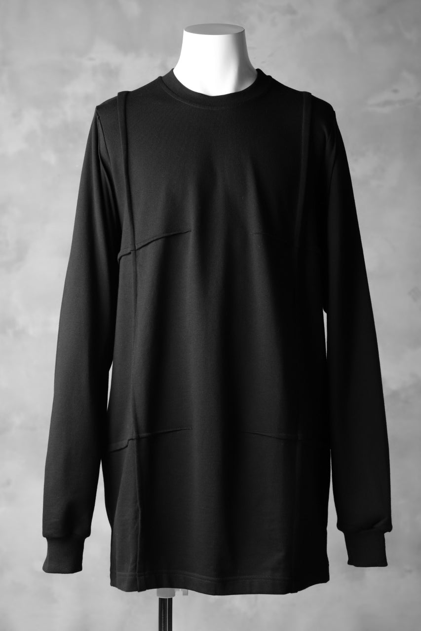 JOE CHIA FOLDED SWEATSHIRT (BLACK)