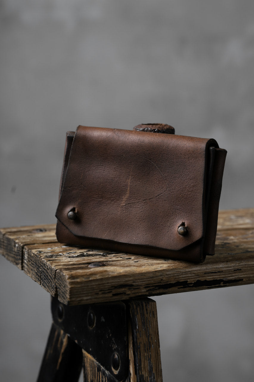 Chörds; TR CARD CASE / HORSE BUTT LEATHER (SMOOTH / CAMEL)