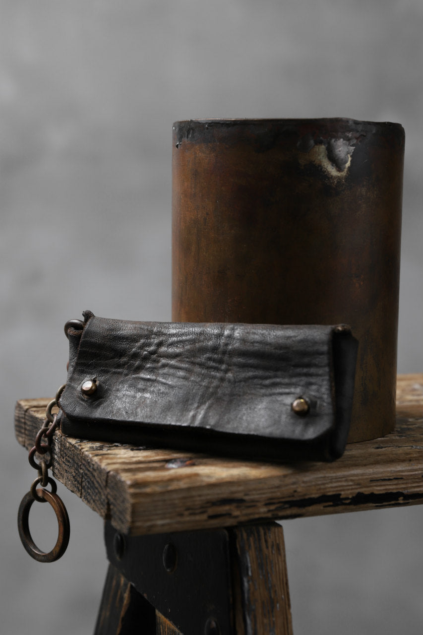 Chörds; SQ. KEY CASE / HORSE BUTT LEATHER (BLACK)