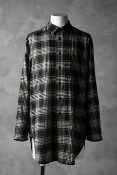 Load image into Gallery viewer, forme d'expression Long Outer Shirt (TARTAN)