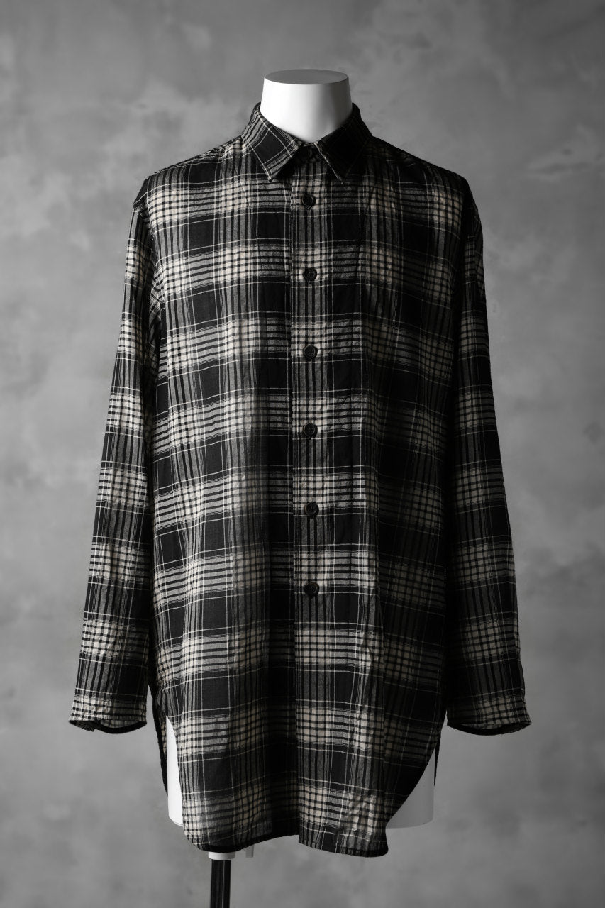 forme d'expression Long Outer Shirt (TARTAN)