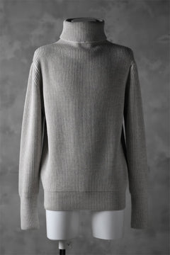 Load image into Gallery viewer, sus-sous fisherman turtle neck sweater / W100 5G Full (BEIGE TOP)
