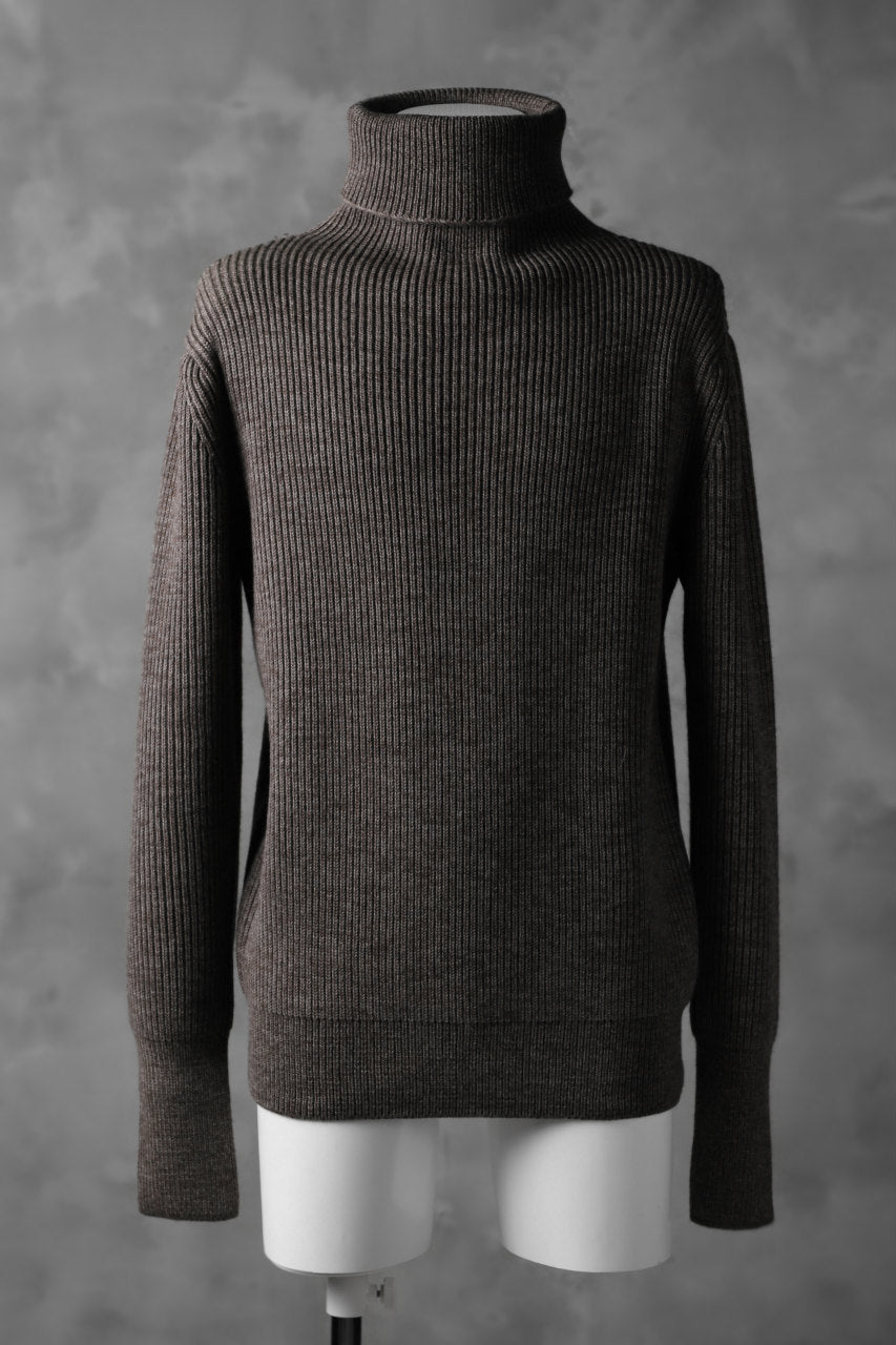 sus-sous fisherman turtle neck sweater / W100 5G Full (BROWN TOP)