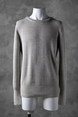 sus-sous fisherman crew neck sweater / W100 5G Full (BEIGE TOP)