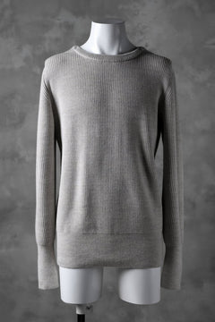 画像をギャラリービューアに読み込む, sus-sous fisherman crew neck sweater / W100 5G Full (BEIGE TOP)