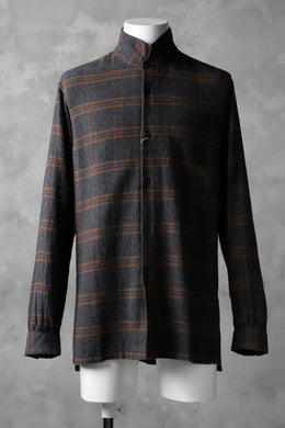 COLINA GARDENER CHECK SHIRT / SOFT FLANNEL (GREY x BROWN)