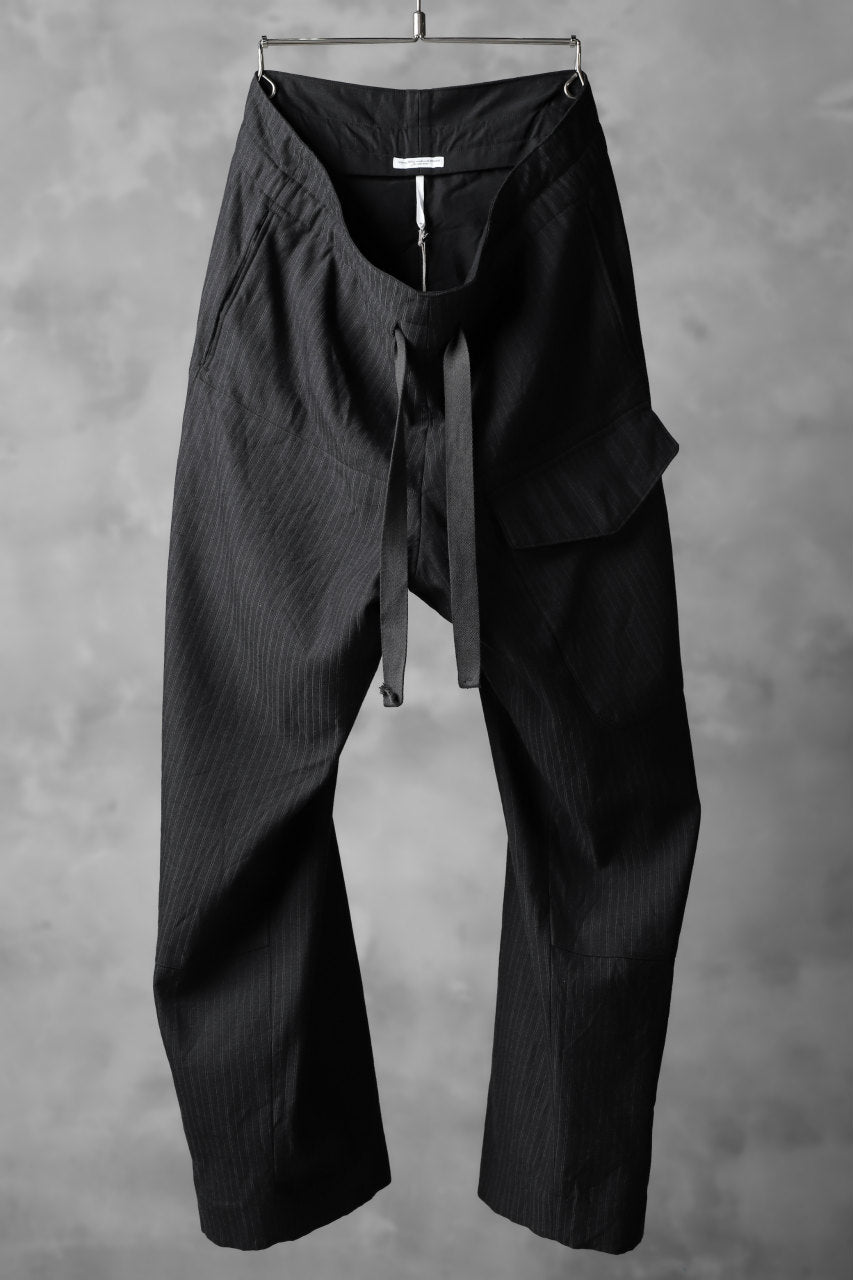 sus-sous wide trousers MK-1/ C55W45 Broken twill (CHARCOAL×STRIPE)