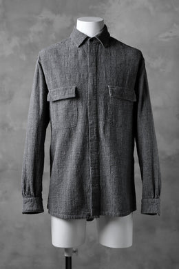 COLINA FRENCH WORK SHIRT JACKET / HAND SPUN COTTON TWEED (SUMI)