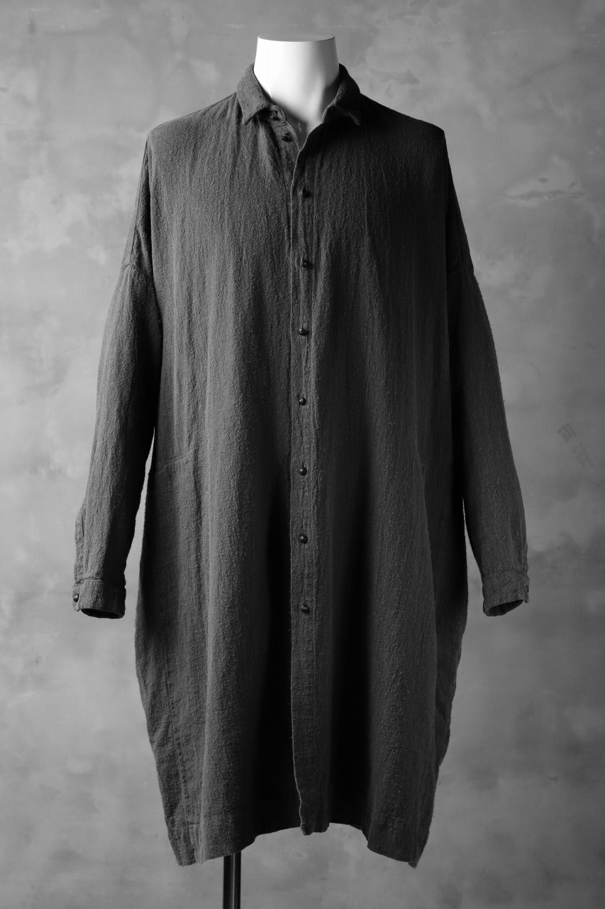 画像をギャラリービューアに読み込む, _vital over size long shirt / botanical logwood dye