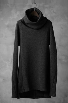 Load image into Gallery viewer, A.F ARTEFACT exclusive DUSTY WAFFLE DRAPED HIGH NECK TOPS (MELANGE BLACK)