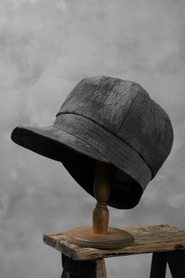 der antagonist. HAND CRAFTED CASQUETTE / TEXTURAL JACQUARD (GREY)