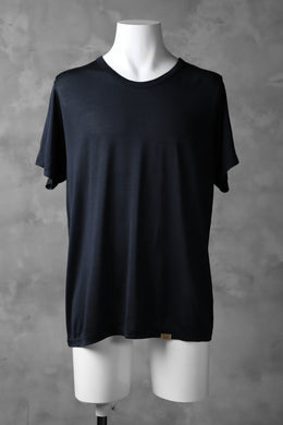 COLINA WASHABLE SILK TEE (NAVY)