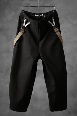 Aleksandr Manamis Wide Cropped Pant wt. Suspender / Brown Stripe