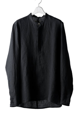 Hannibal. Band Collar Half Front Button Shirt (NIGHT)