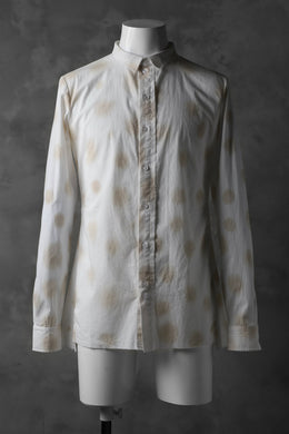 Aleksandr Manamis Raw Hallf Collar Shirt / Tea Stain Dot