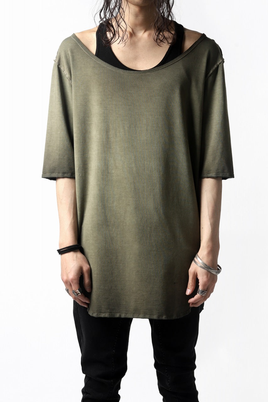 Nostra Santissima SMOOTH FIT JERSEY TOPS (REVERSE DYED / GREEN)