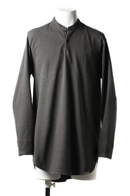 COLINA GRANPA PULL OVER SHIRT / LOG WOOD DYED HEAVY JERSEY (LOG WOOD BLACK)